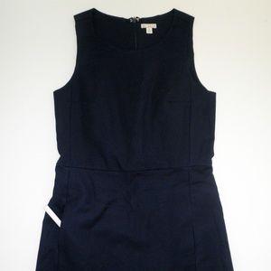 GAP Navy Blue Knee Length Sleeveless Sheath Dress